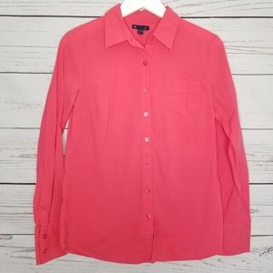 Gap | Dark Pink Button Up Long Sleeve Shirt